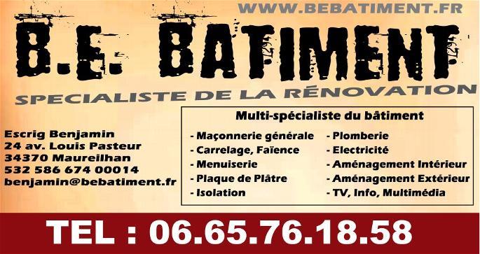 Exemple Carte De Visite Info Contact Bienvenue Sur B E BATIMENT Specialiste